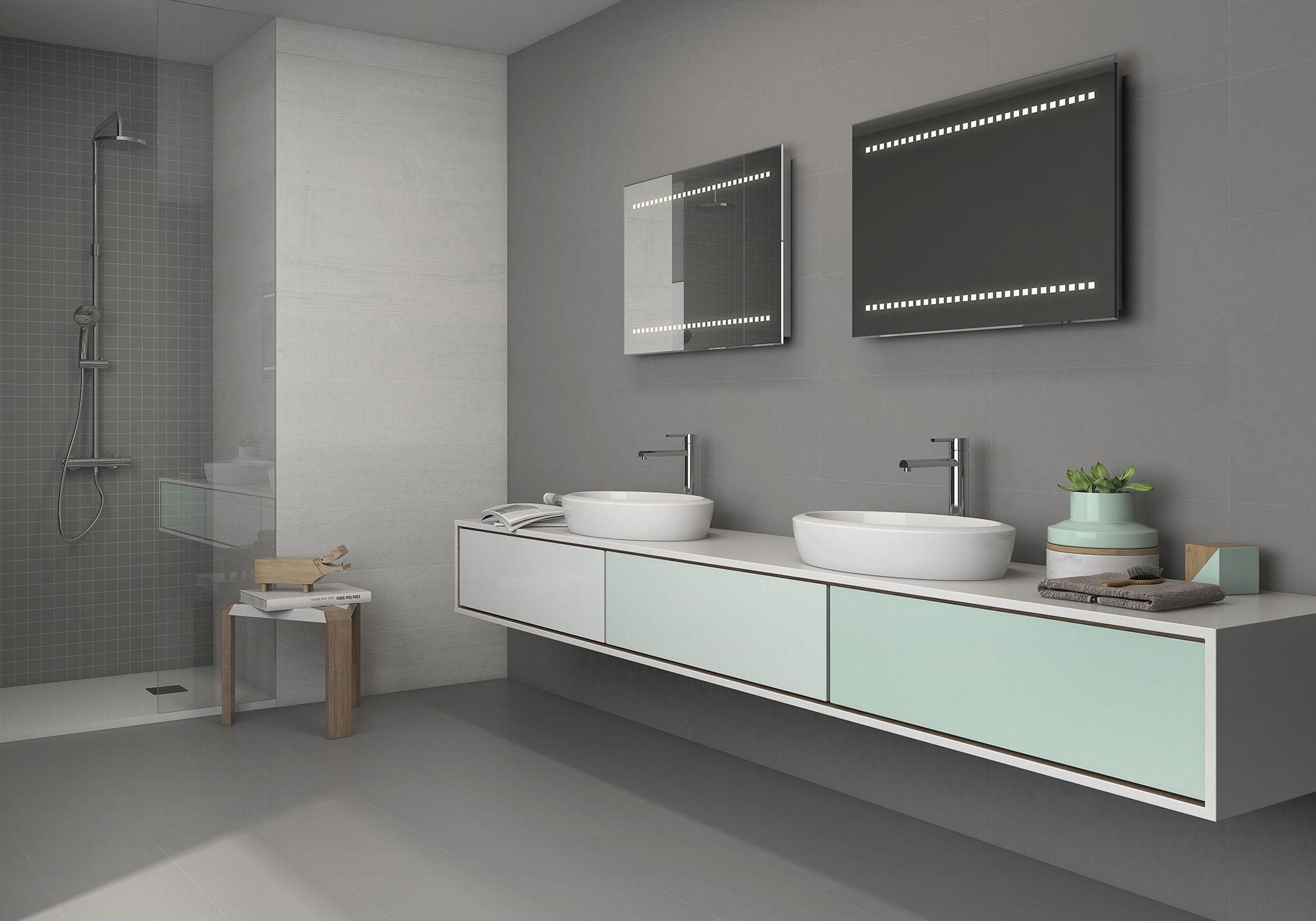 Un ba o con dos lavabos la tendencia m s funcional gala blog - Banos con dos lavabos ...