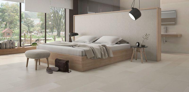 Baño en el dormitorio con cerámica estocolmo