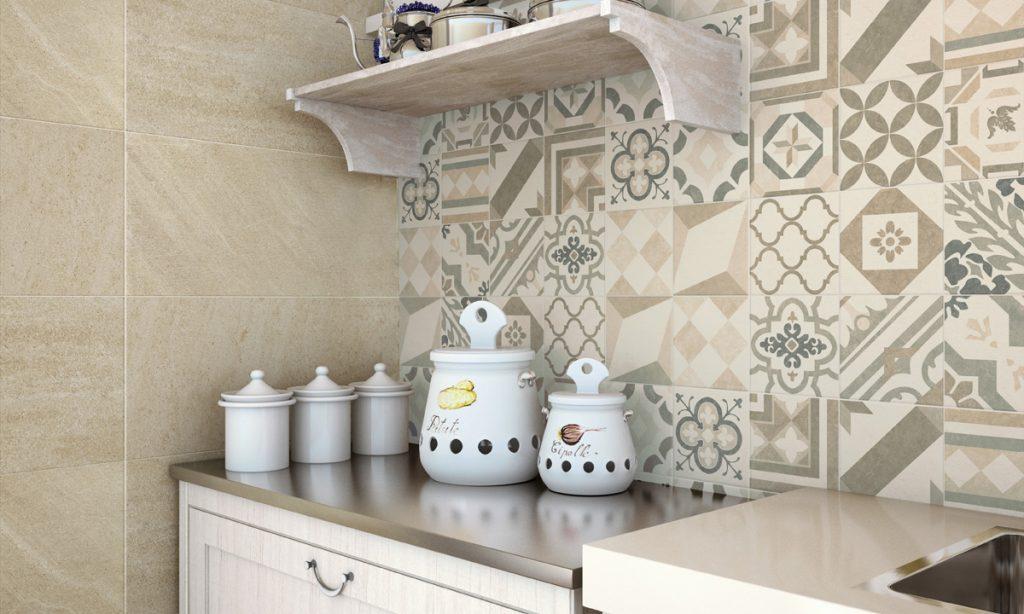 Combinacion de cerámicas estilo Bari y Andes de Gala