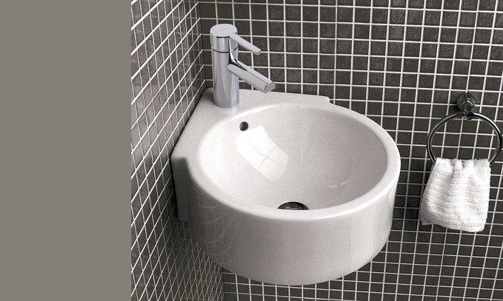Isla lavamanos para sacar partido a lavabos pequeños