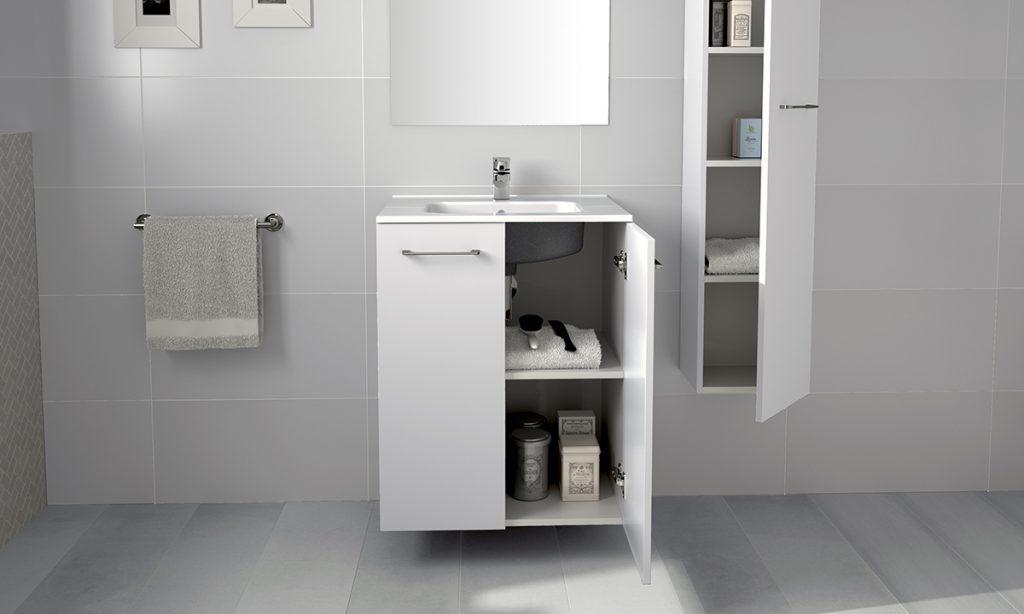 Mueble y columna Nura de Gala para lavabos con poco espacio