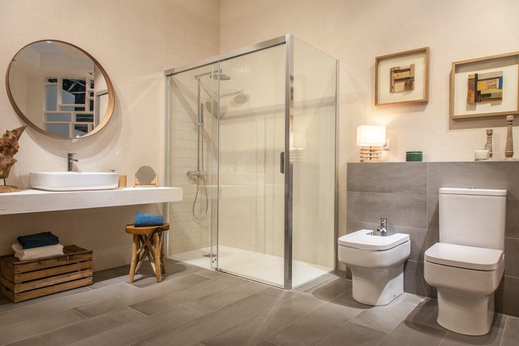 Cerámica Linum para un baño rústico actual