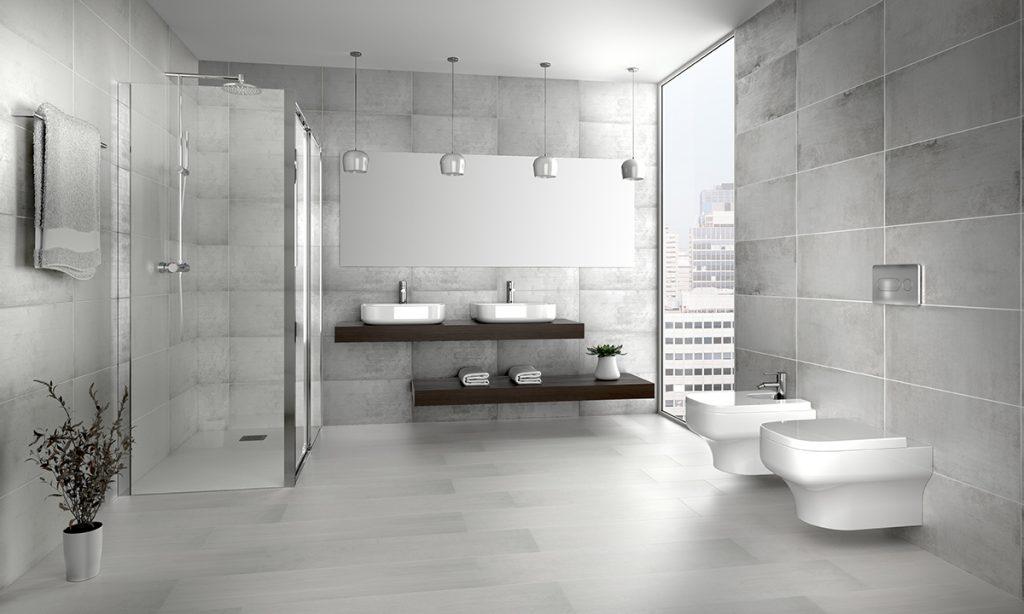 Añadir espejos al baño aporta sensación de amplitud