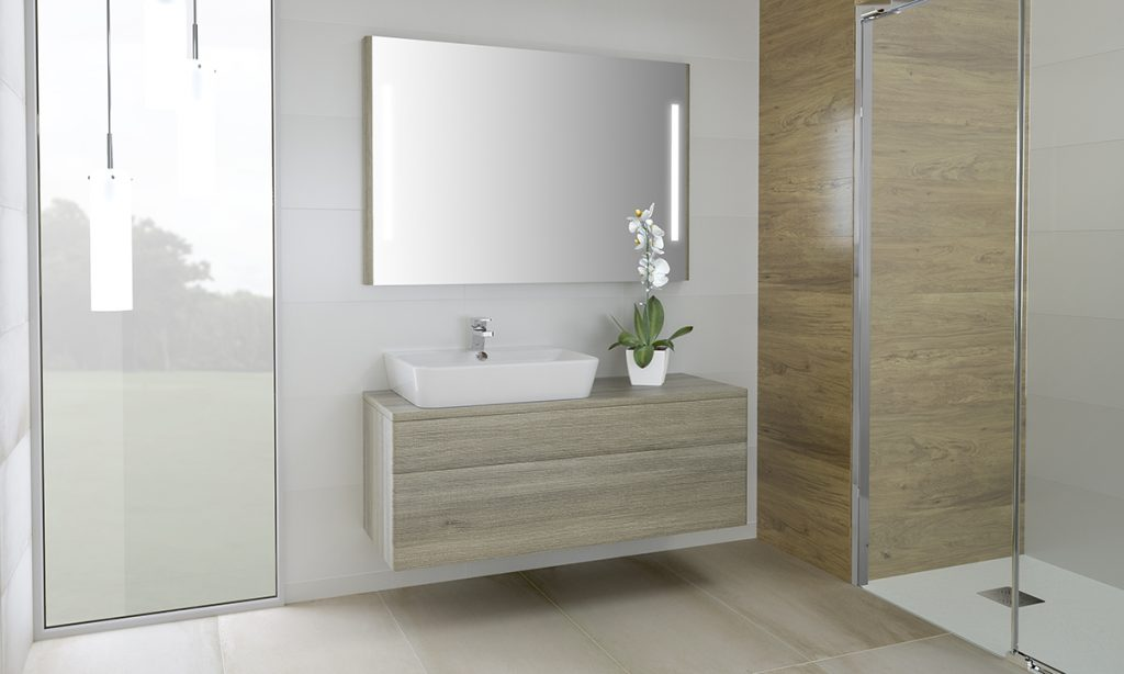 Mueble decorativo para baño con superficie Emma Square