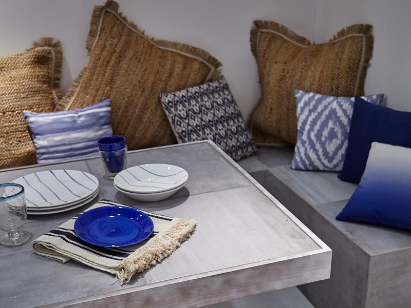 Decoración minimalista para terraza con cerámica