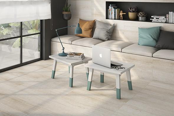 Muebles de terraza con madera cerámica