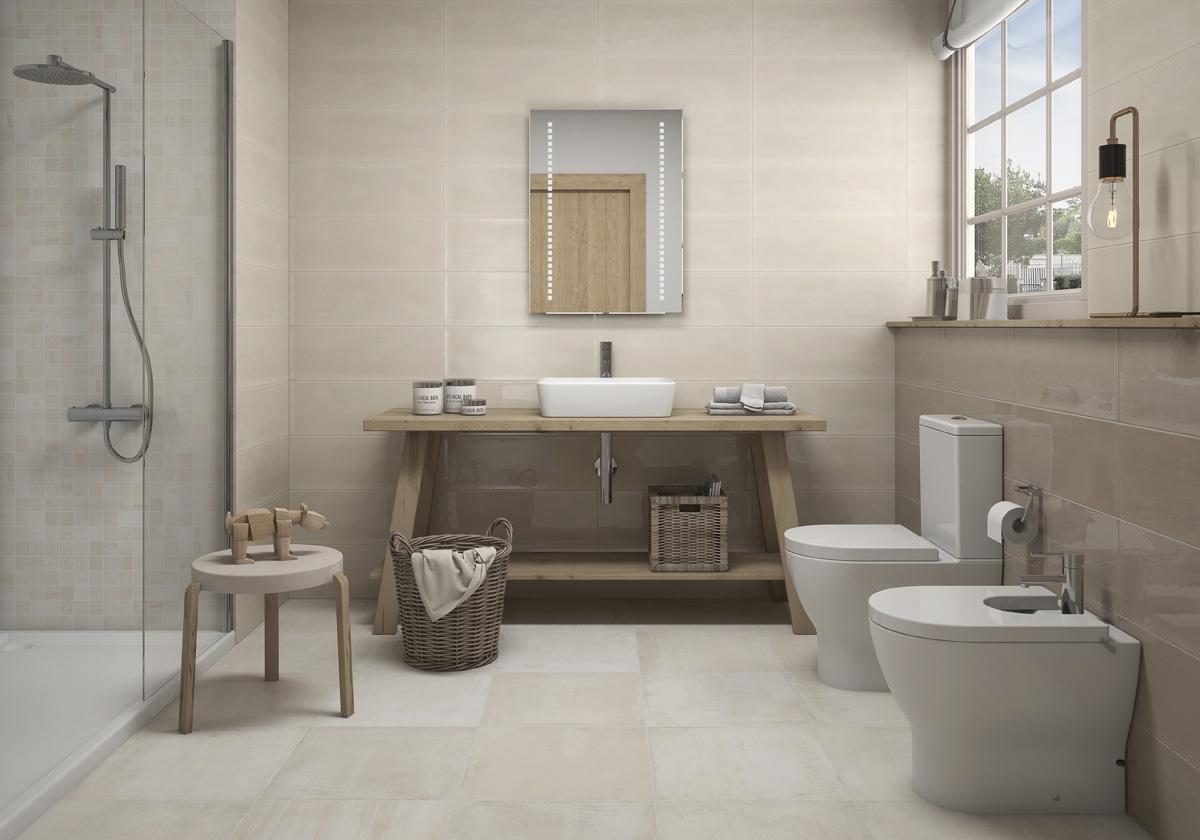 Cuartos de baño rústicos: ideas y muebles para una ...
