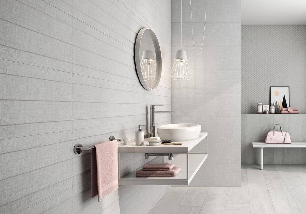 Linum para baños grises